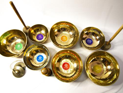 7 chakra singing bowls